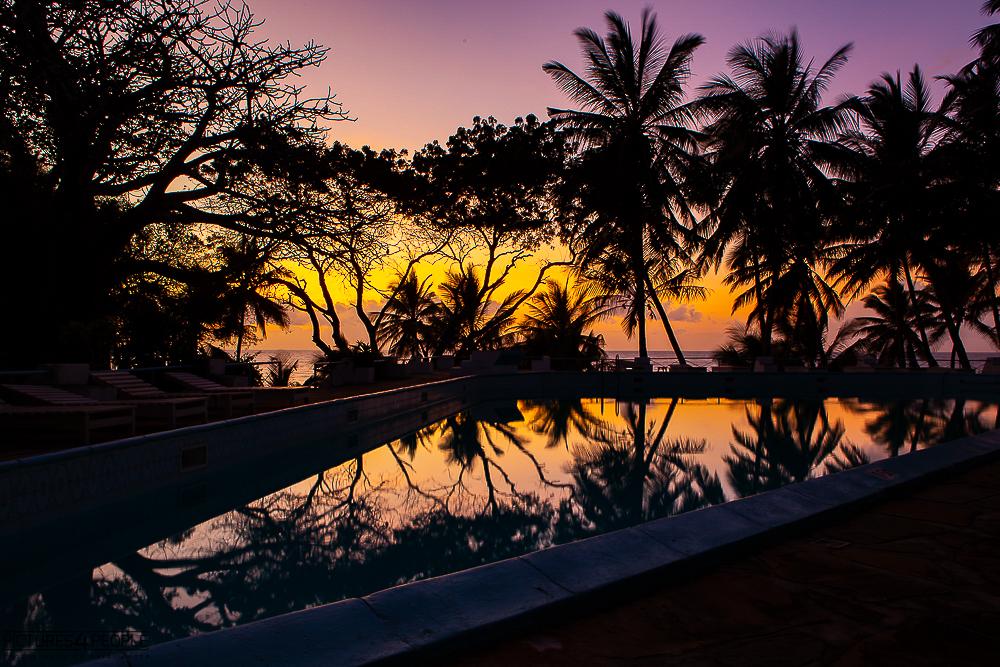 Sonnenaufgang im Baobab Hotel in Kilifi