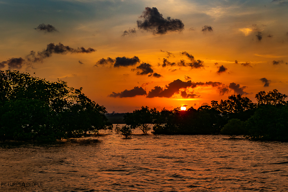 Sonnenuntergang in Kilifi in Kenia