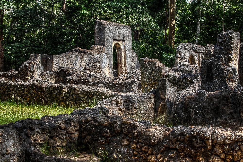 Ruinen in Gede in Kenia