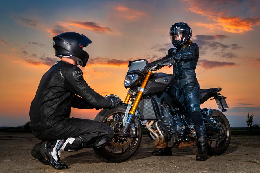 Pärchen, Motorradshooting in Dessau-Roßlau