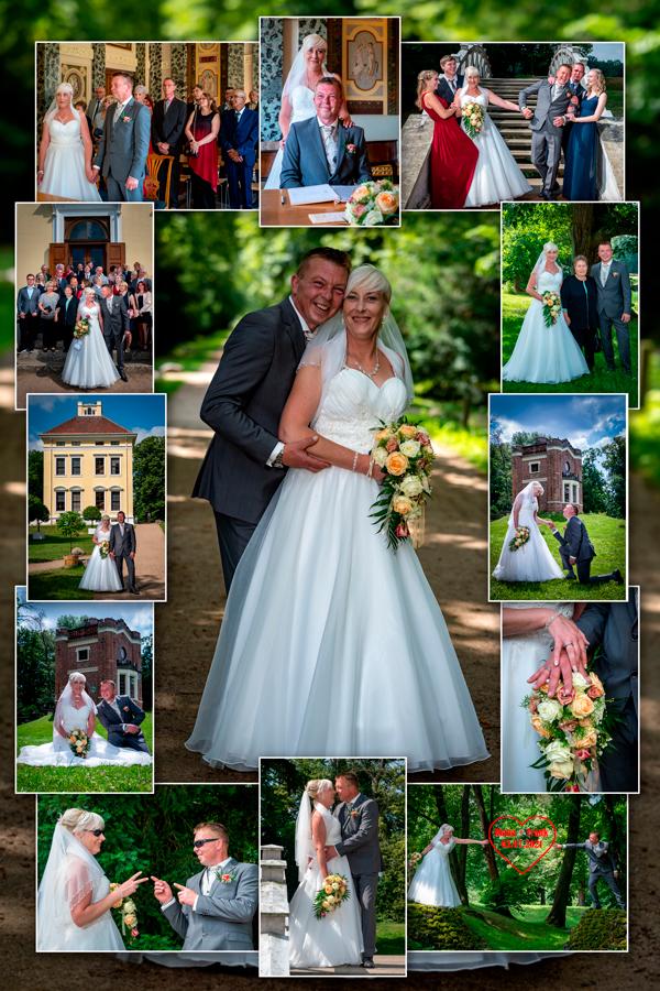 Collage von einer Hochzeit