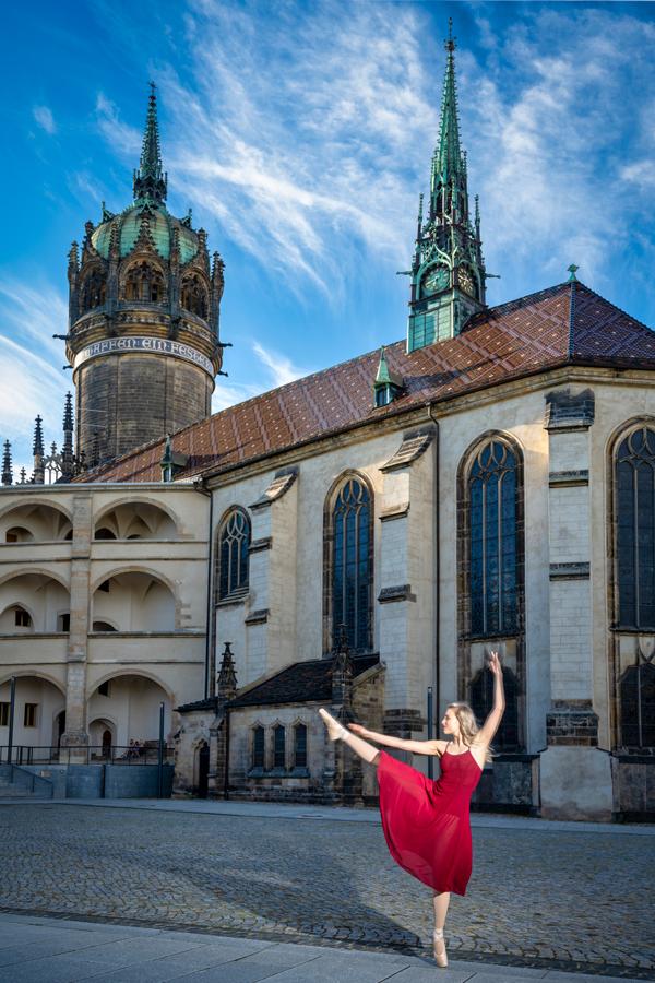 Balletttänzerin in Wittenberg